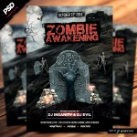 Zombie Awakening Halloween Flyer