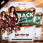 Back to School Dance party flyer
