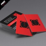 Red and Black Free Business Card