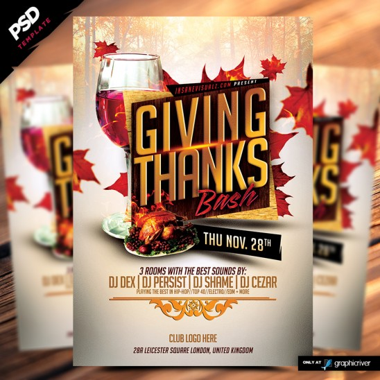 Giving Thanks Bash flyer