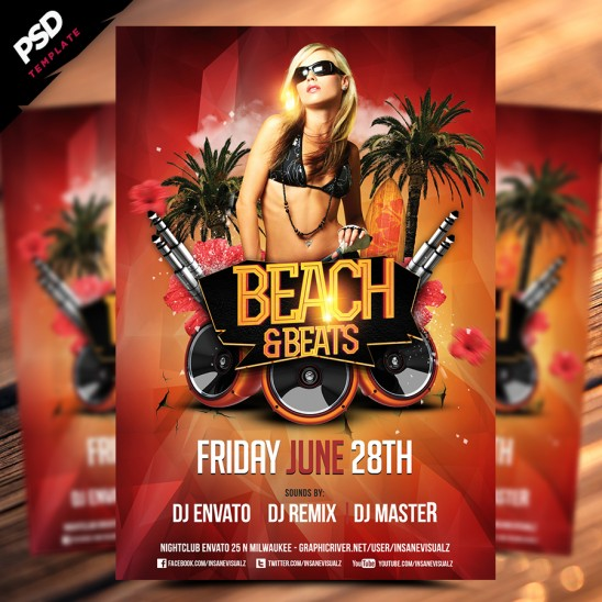 Beach & Beats Flyer