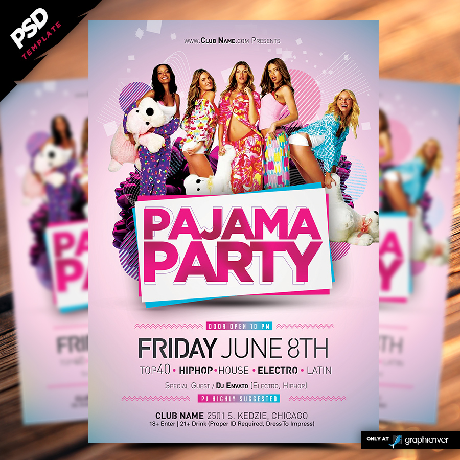 Pajama Party Flyer