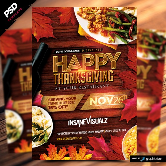 Happy Thanksgiving Flyer