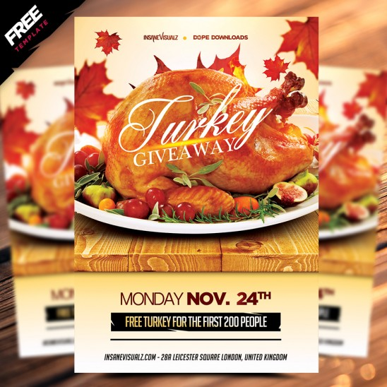 Turkey Giveaway Free Flyer