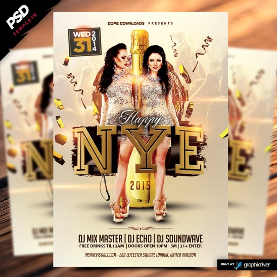 Happy NYE 2015 Flyer Template