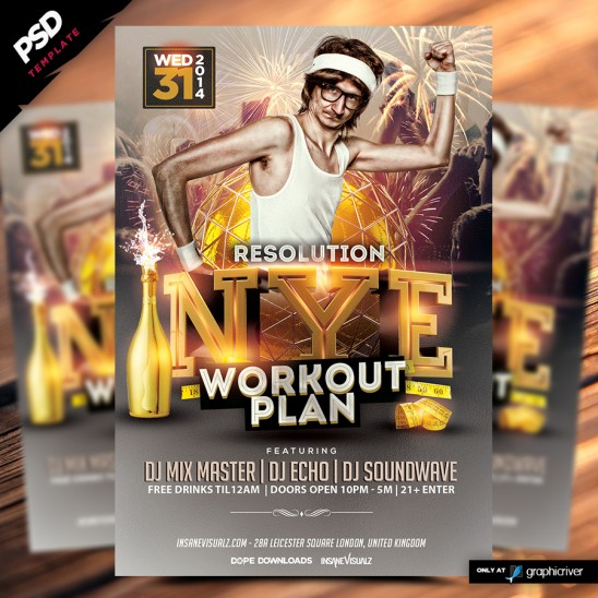 NYE Resolution Workout Plan Flyer