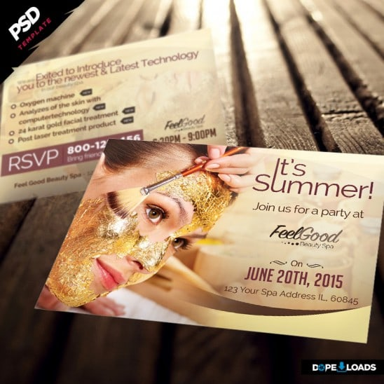 Summer Spa Flyer Template