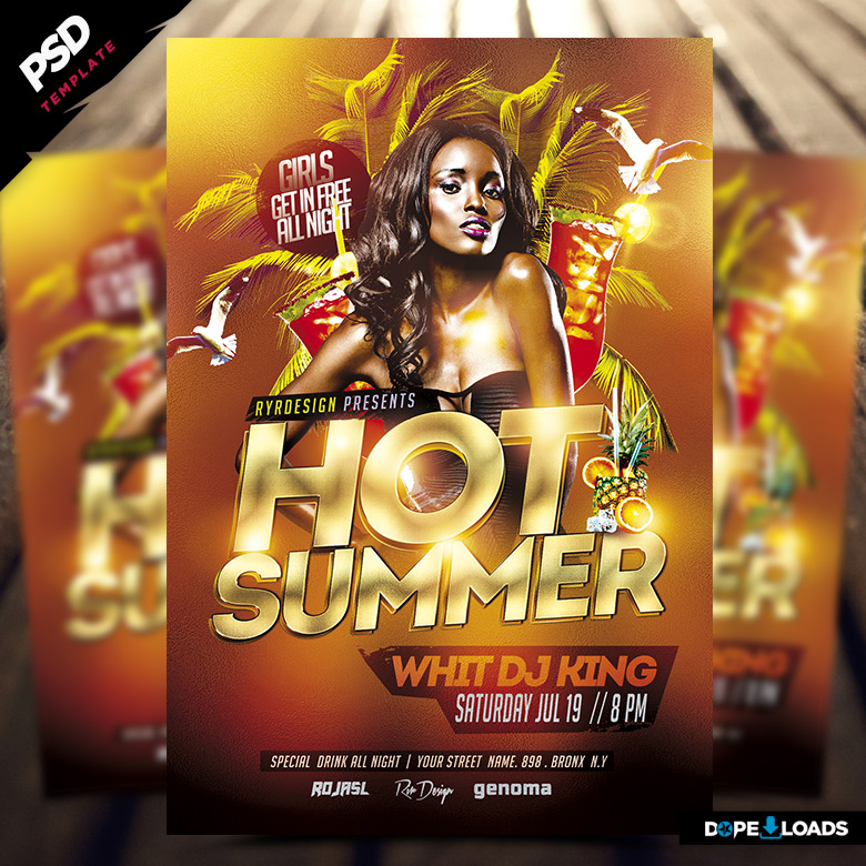 Hot Summer PSD Flyer