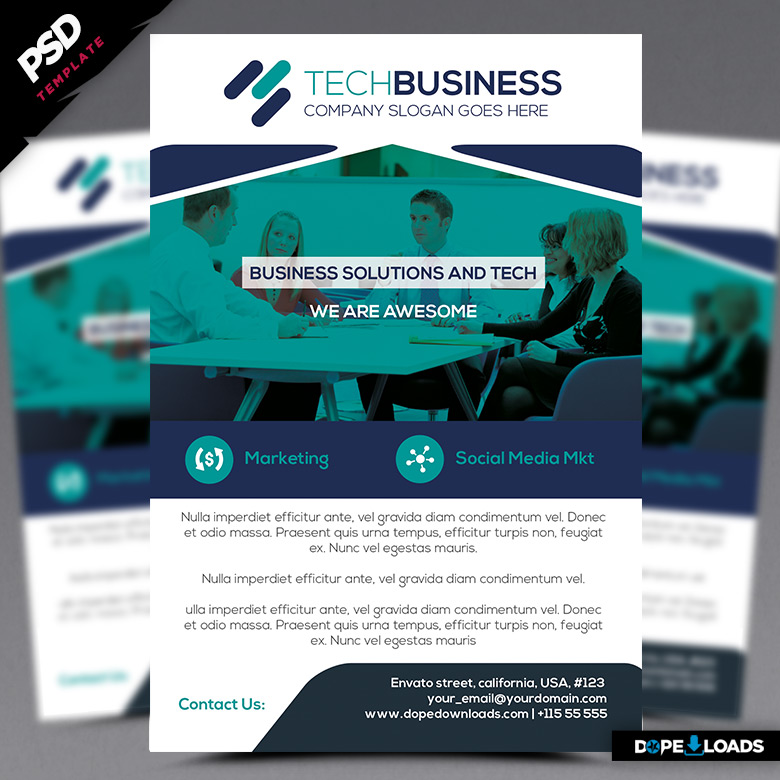 Tech Business Flyer Template