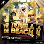 Tquila Beach Party Flyer PSD