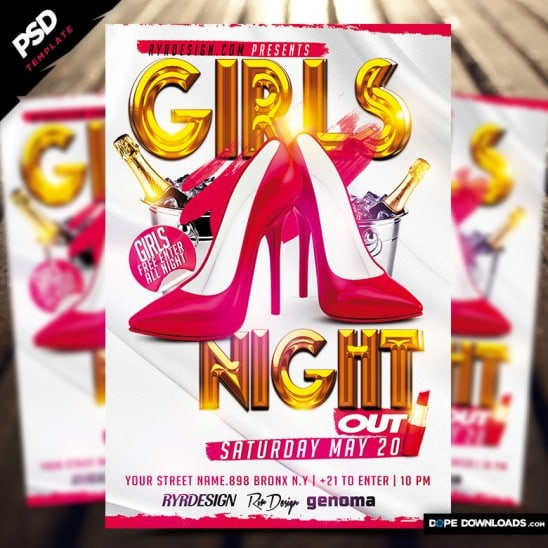 Girls Night Out Flyer Template