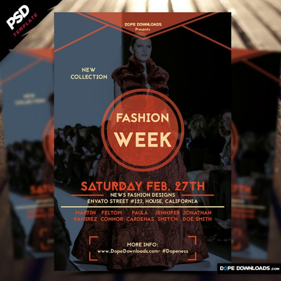 Fashion Week Flyer Design Two