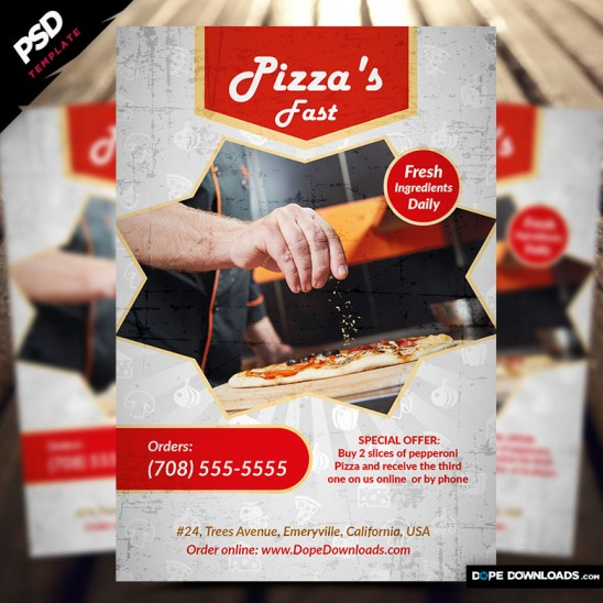 Pizza Fast Flyer Front