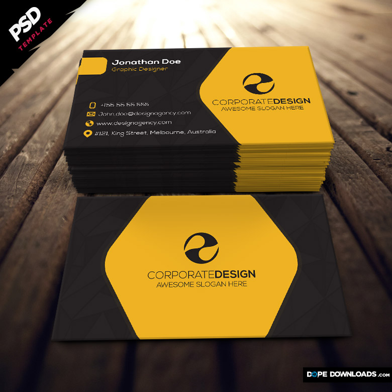 Corporate Construction Business Card - Dope Downloads