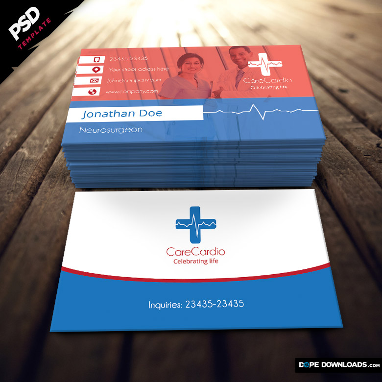 medical business card template - Medical Business Cards