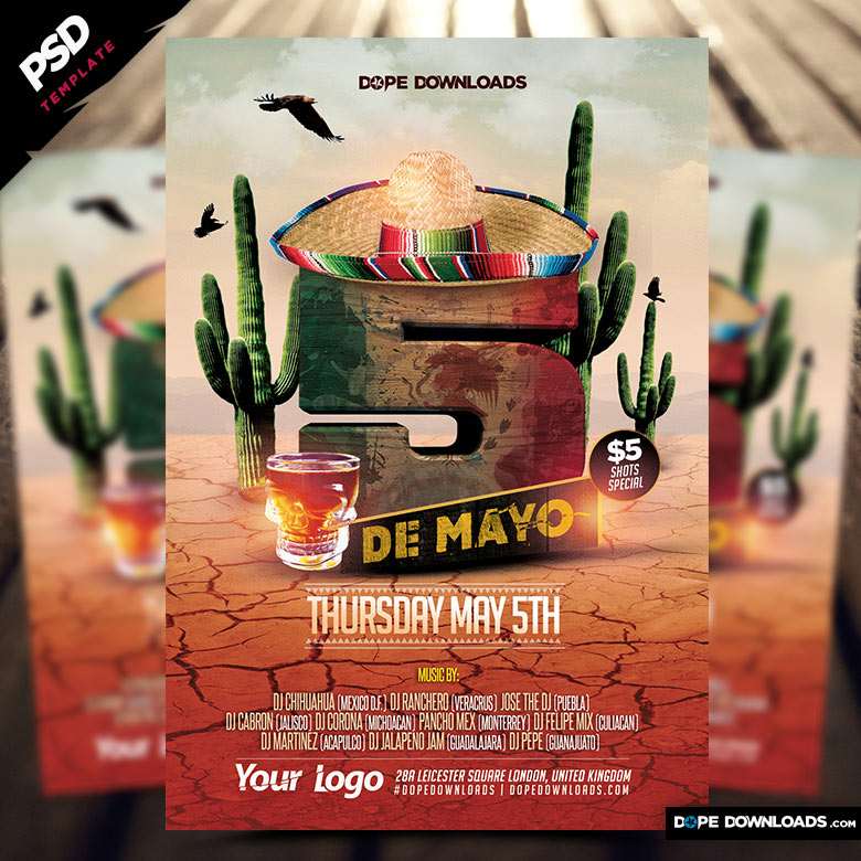 5 de Mayo Party Flyer Template