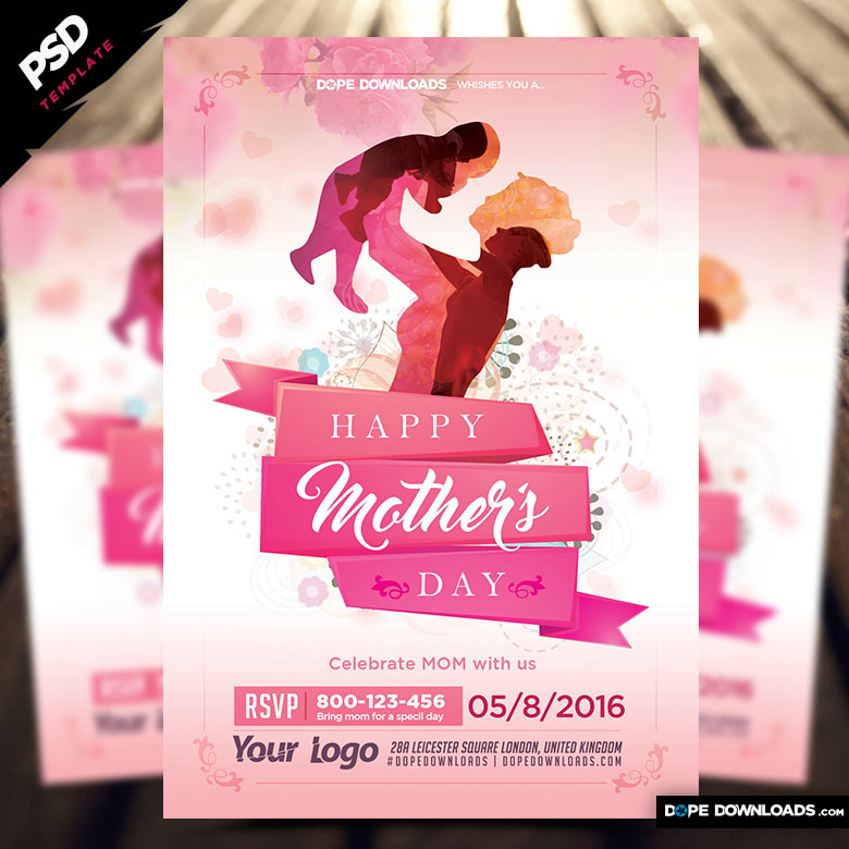 Mothers Day Sale Flyer Psd Template: Mother's Day Flyer Template