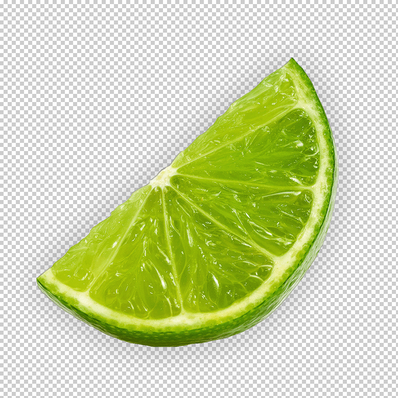 Lime Wedge PSD