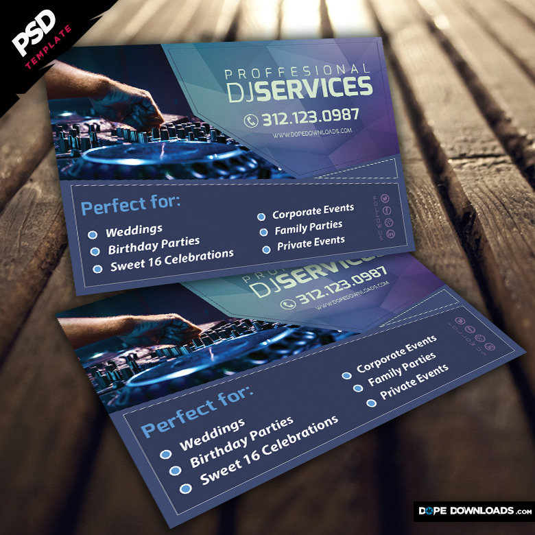Dj Services Flyer Template Preview