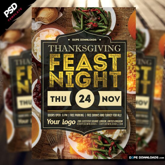 Thanksgiving Feast Night Flyer