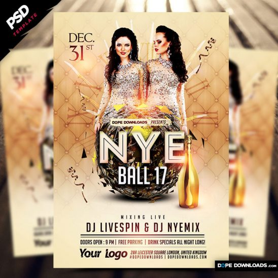 NYE Ball 17 Flyer