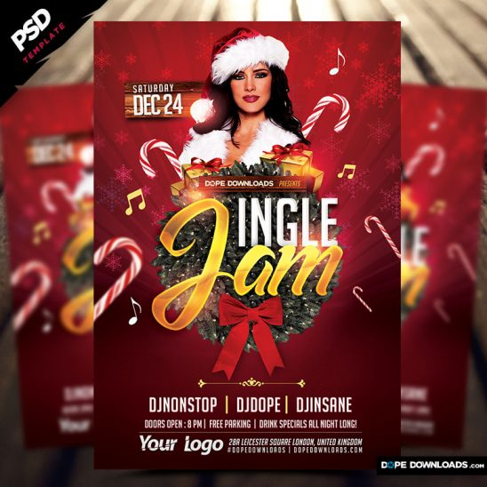 Jingle Jam X-mas Flyer