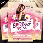 Spring Break Flyer Template 2017