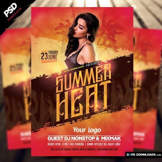 Summer Heat 2017 Flyer Template