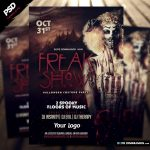 "<span itemprop=""name"">Freak Show Halloween Flyer Template</span>"