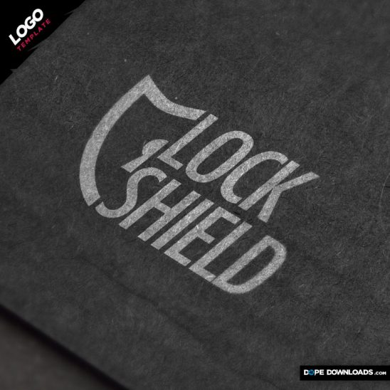 lock shield logo Template