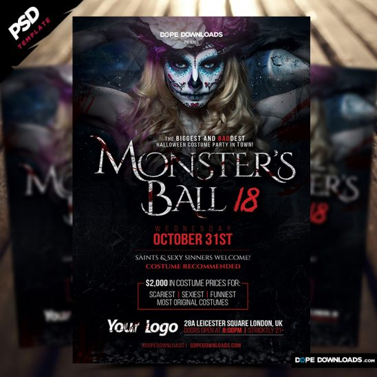 Monsters Ball Halloween Flyer Template